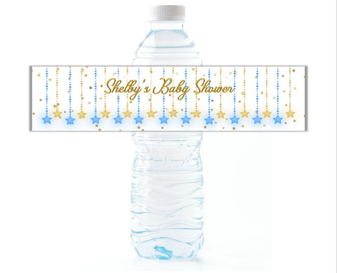 Twinkle Little Star Water Bottle Labels - Cathy's Creations - www.candywrappershop.com