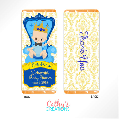 Little Prince Candy Bar Wrapper - Cathy's Creations - www.candywrappershop.com