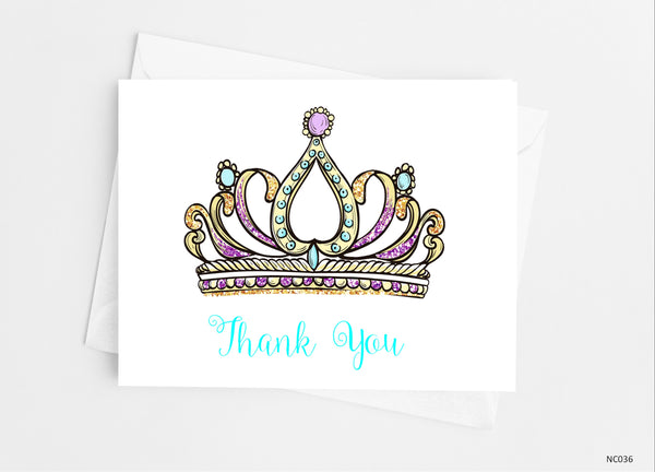 Princess Tiara Note Cards Note Cards- Cathy's Creations - www.candywrappershop.com