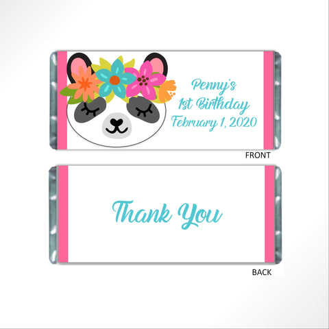 Panda Candy Bar Wrapper - Cathy's Creations - www.candywrappershop.com