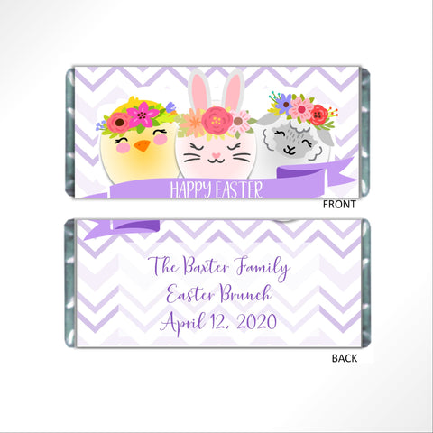 Easter Animals Candy Bar Wrapper - Cathy's Creations - www.candywrappershop.com