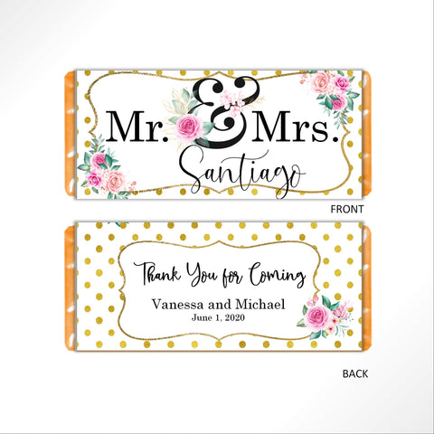 Mr. and Mrs. Candy Bar Wrapper - Cathy's Creations - www.candywrappershop.com
