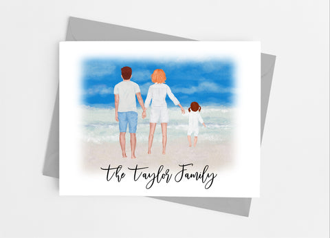 Summer Family Portrait Note Cards-Note Cards-Cathy's Creations - www.candywrappershop.com