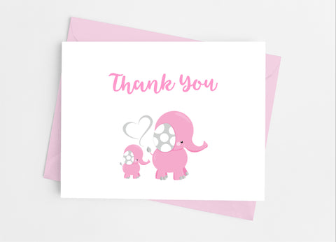 Elephant Baby Shower Thank You Cards-Note Cards-Cathy's Creations - www.candywrappershop.com
