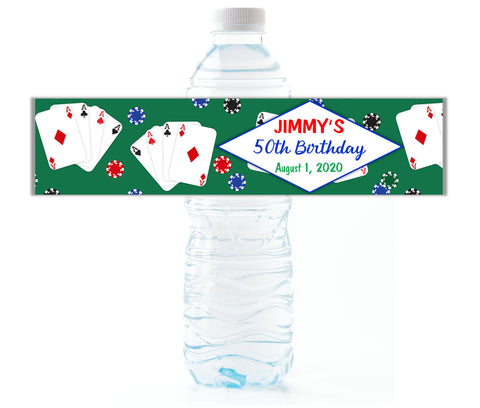 Casino Water Bottle Labels - Cathy's Creations - www.candywrappershop.com