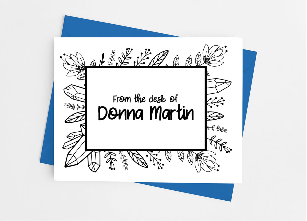 Black and White Doodles Note Cards - Cathy's Creations - www.candywrappershop.com