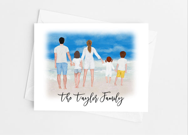 Summer Family Portrait Note Cards - Cathy's Creations - www.candywrappershop.com