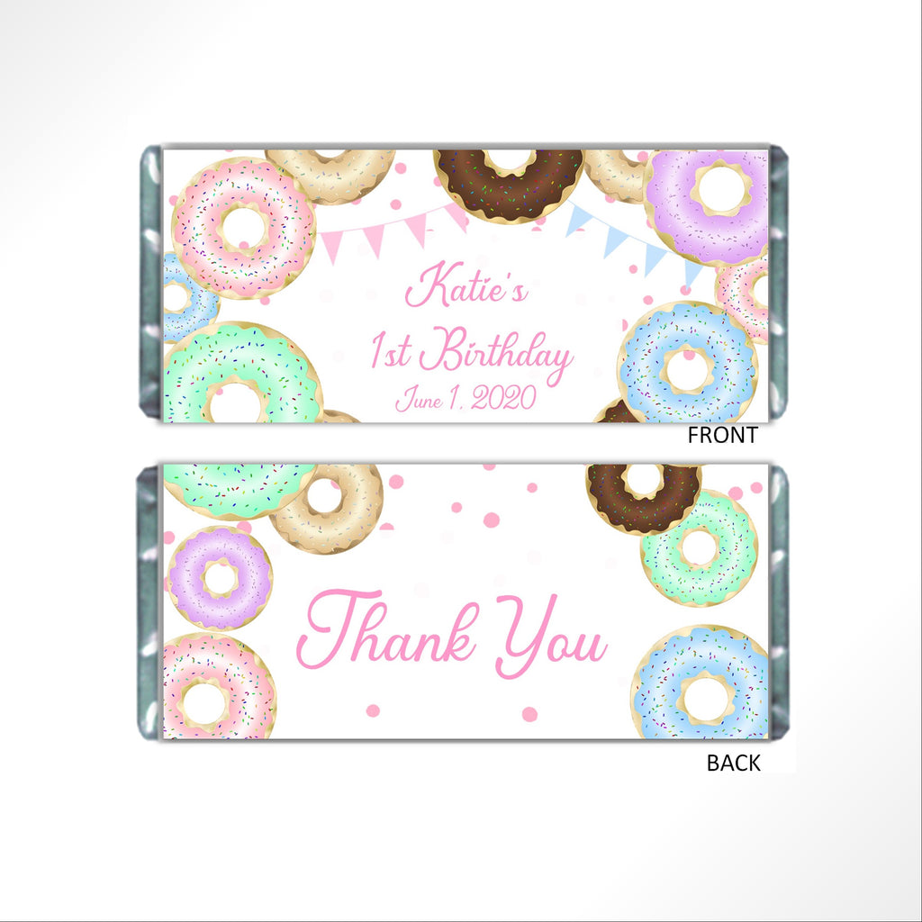 Donut Party Candy Bar Wrapper-Candy Bar Wrapper-Cathy's Creations - www.candywrappershop.com