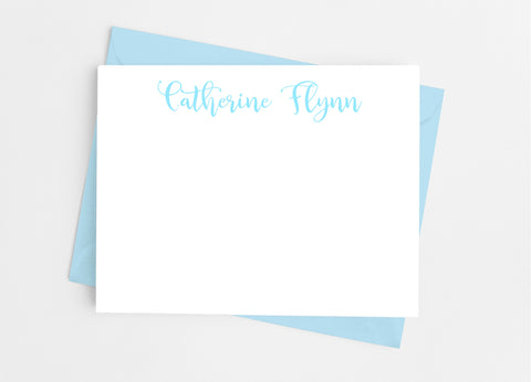 Personalized Stationery Flat Note Cards - Playful Calligraphy - Cathy's Creations - www.candywrappershop.com