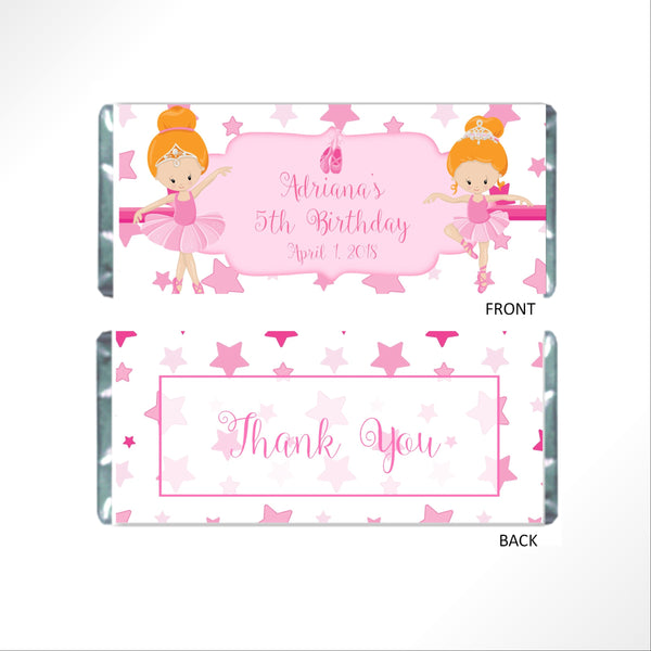 Ballet Candy Bar Wrapper - Cathy's Creations - www.candywrappershop.com