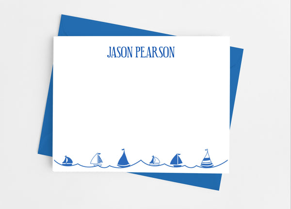 Sailboat Flat Note Cards - Cathy's Creations - www.candywrappershop.com