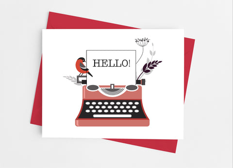 Typewriter Note Cards - Cathy's Creations - www.candywrappershop.com