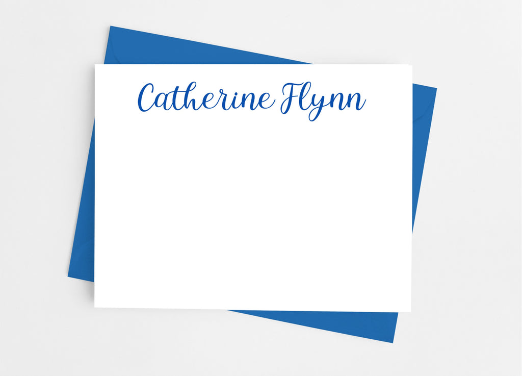 Personalized Stationery Flat Note Cards - Classic Script - Cathy's Creations - www.candywrappershop.com