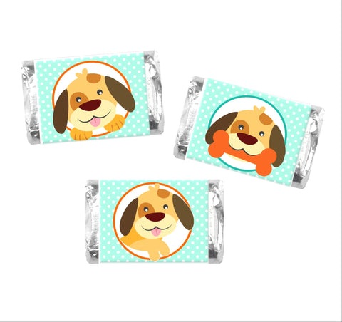 Dog Mini Candy Bar Wrappers-Mini Candy Bar Wrapper-Cathy's Creations - www.candywrappershop.com