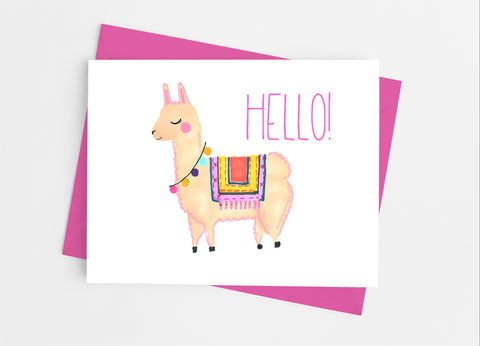 Llama Note Cards - Cathy's Creations - www.candywrappershop.com