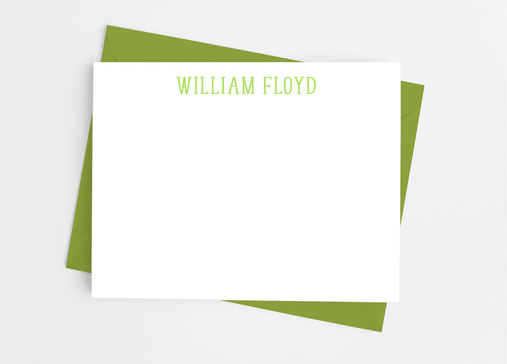 Personalized Stationery Flat Note Cards - Classic Type - Cathy's Creations - www.candywrappershop.com