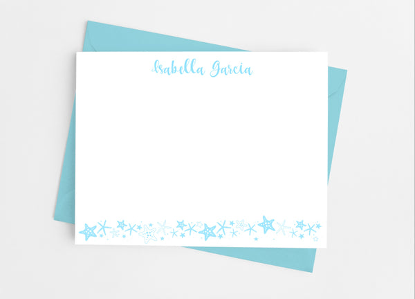 Starfish Flat Note Cards - Cathy's Creations - www.candywrappershop.com