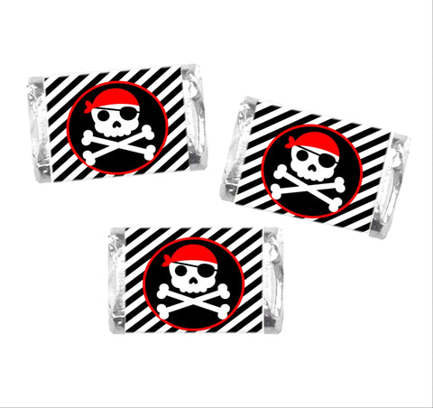 Pirate Mini Candy Bar Wrappers-Mini Candy Bar Wrapper-Cathy's Creations - www.candywrappershop.com