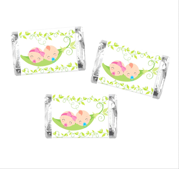 Pea in a Pod Mini Candy Wrappers - Cathy's Creations - www.candywrappershop.com