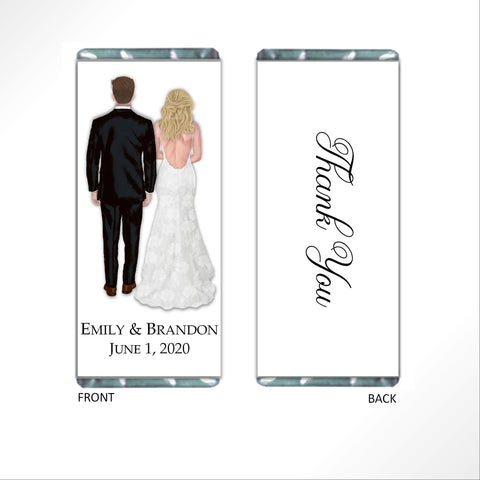 Customized Bride and Groom Candy Bar Wrapper-Candy Bar Wrapper-Cathy's Creations - www.candywrappershop.com