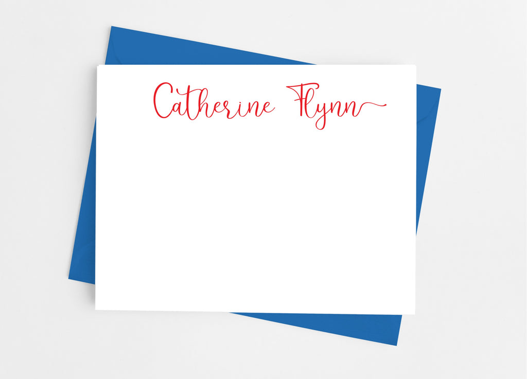 Personalized Stationery Flat Note Cards - Playful Script - Cathy's Creations - www.candywrappershop.com