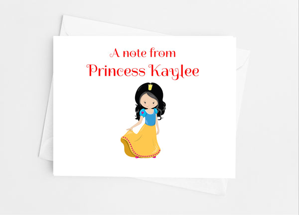 Fairytale Princess Note Cards - Cathy's Creations - www.candywrappershop.com