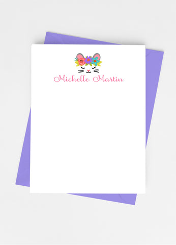 Mouse Face Flat Note Cards-Flat Stationery Cards-Cathy's Creations - www.candywrappershop.com