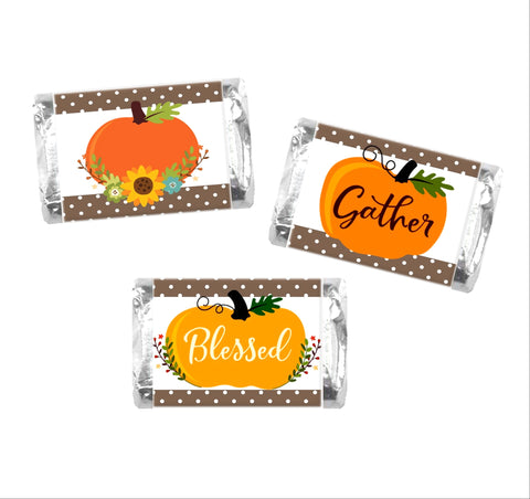 Thanksgiving Mini Candy Bar Wrappers - Cathy's Creations - www.candywrappershop.com