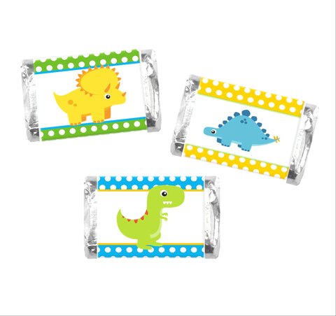 Dinosaur Mini Candy Wrappers-Mini Candy Bar Wrapper-Cathy's Creations - www.candywrappershop.com