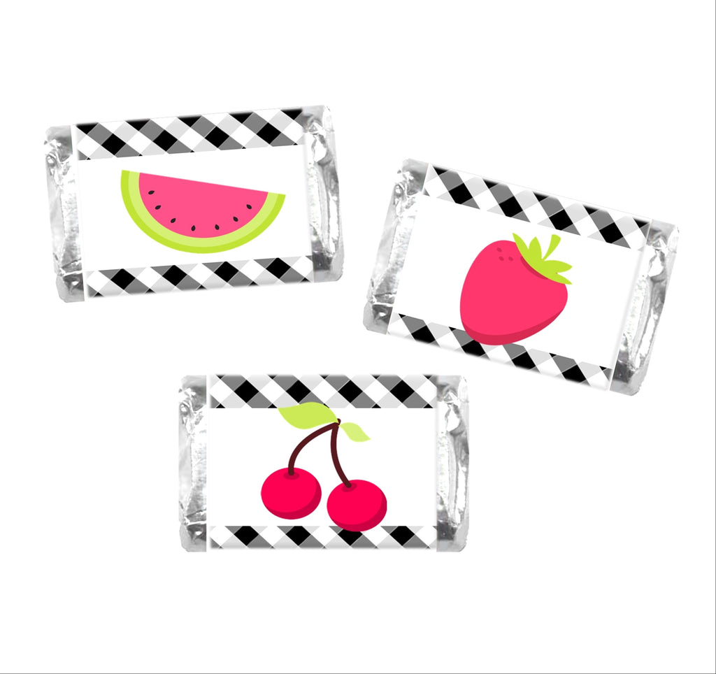 Tutti Frutti Mini Candy Wrappers - Cathy's Creations - www.candywrappershop.com