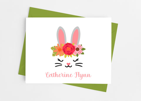 Bunny Face Note Cards-Note Cards-Cathy's Creations - www.candywrappershop.com