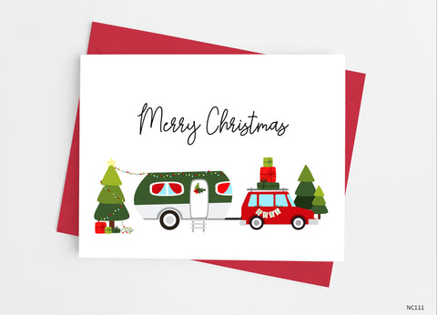 Christmas Camper Note Cards - Cathy's Creations - www.candywrappershop.com