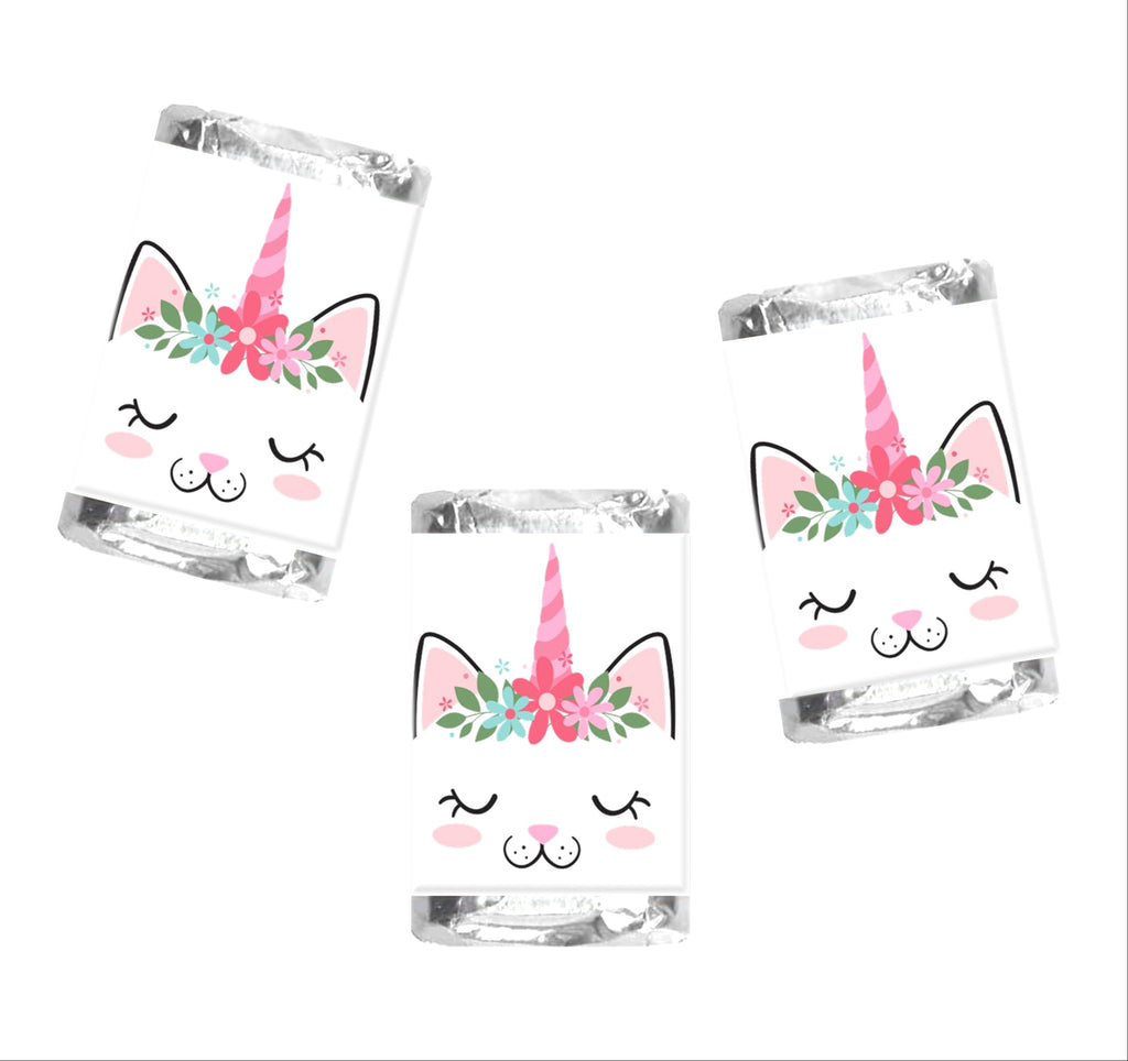 Caticorn Mini Candy Wrappers-Mini Candy Bar Wrapper-Cathy's Creations - www.candywrappershop.com