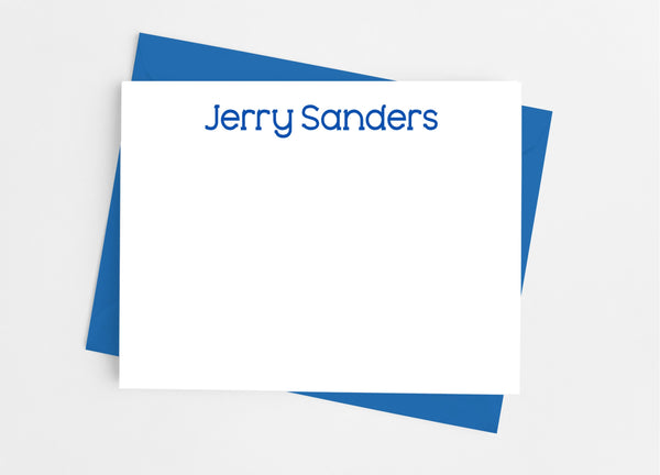 Personalized Men's Stationery Flat Note Cards - Cathy's Creations - www.candywrappershop.com