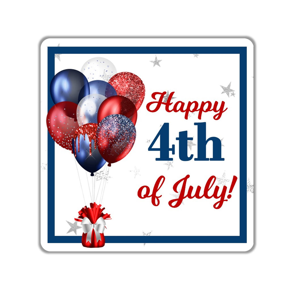 4th of July Favor Stickers OR Tags - Cathy's Creations - www.candywrappershop.com