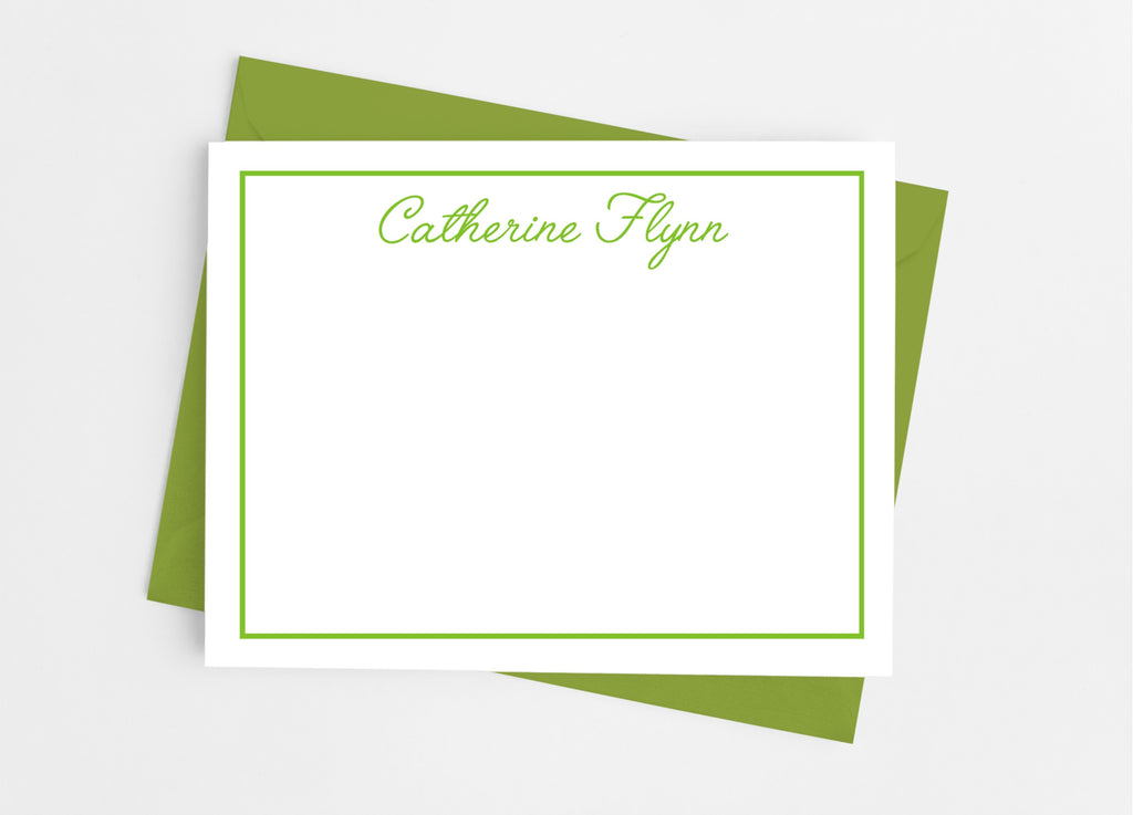 Personalized Stationery Flat Note Cards - Simple Script - Cathy's Creations - www.candywrappershop.com