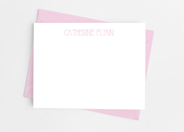 Personalized Stationery Flat Note Cards - Vintage Type - Cathy's Creations - www.candywrappershop.com