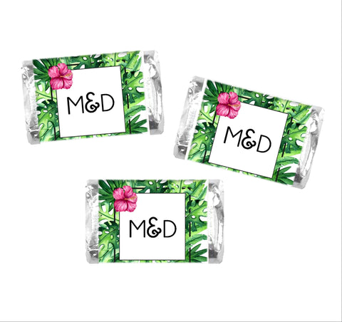 Tropical Palms Mini Candy Wrappers-Mini Candy Bar Wrapper-Cathy's Creations - www.candywrappershop.com