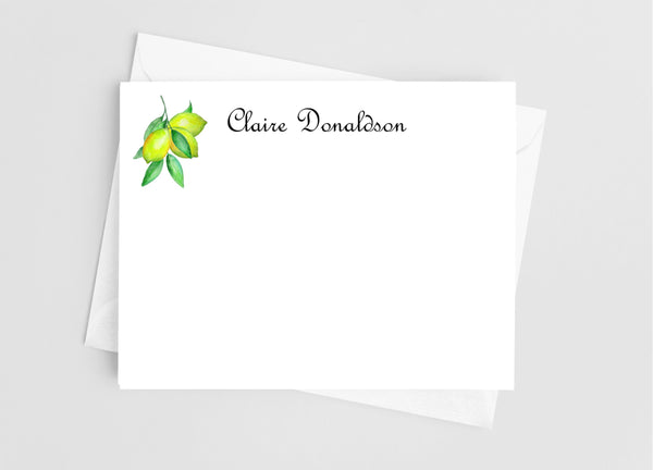 Lemon Flat Note Cards - Cathy's Creations - www.candywrappershop.com