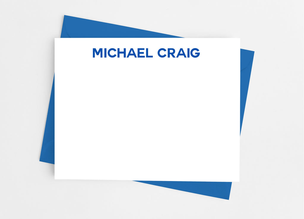 Personalized Stationery Flat Note Cards - Modern Professional - Cathy's Creations - www.candywrappershop.com