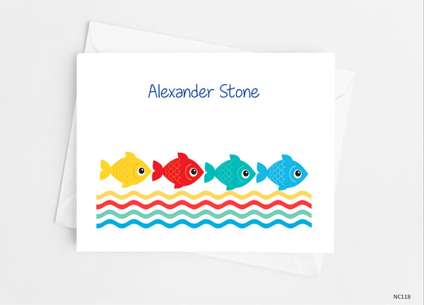 Fish Note Cards - Cathy's Creations - www.candywrappershop.com