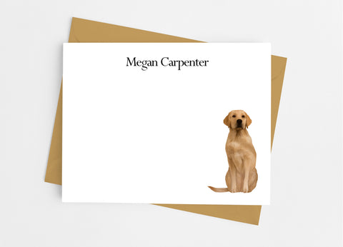 Golden Retriever Flat Note Cards-Flat Stationery Cards-Cathy's Creations - www.candywrappershop.com