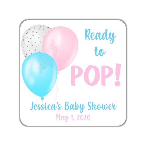 Ready to Pop Baby Shower Favor Stickers OR Tags - Cathy's Creations - www.candywrappershop.com