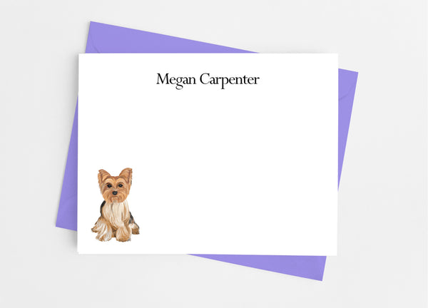 Yorkie Flat Note Cards - Cathy's Creations - www.candywrappershop.com