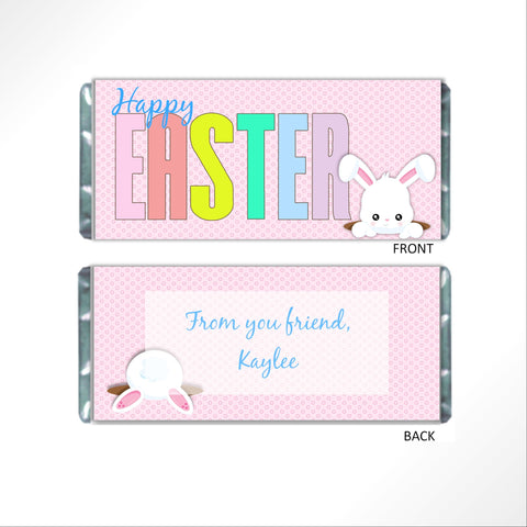 Happy Easter Candy Bar Wrapper - Cathy's Creations - www.candywrappershop.com