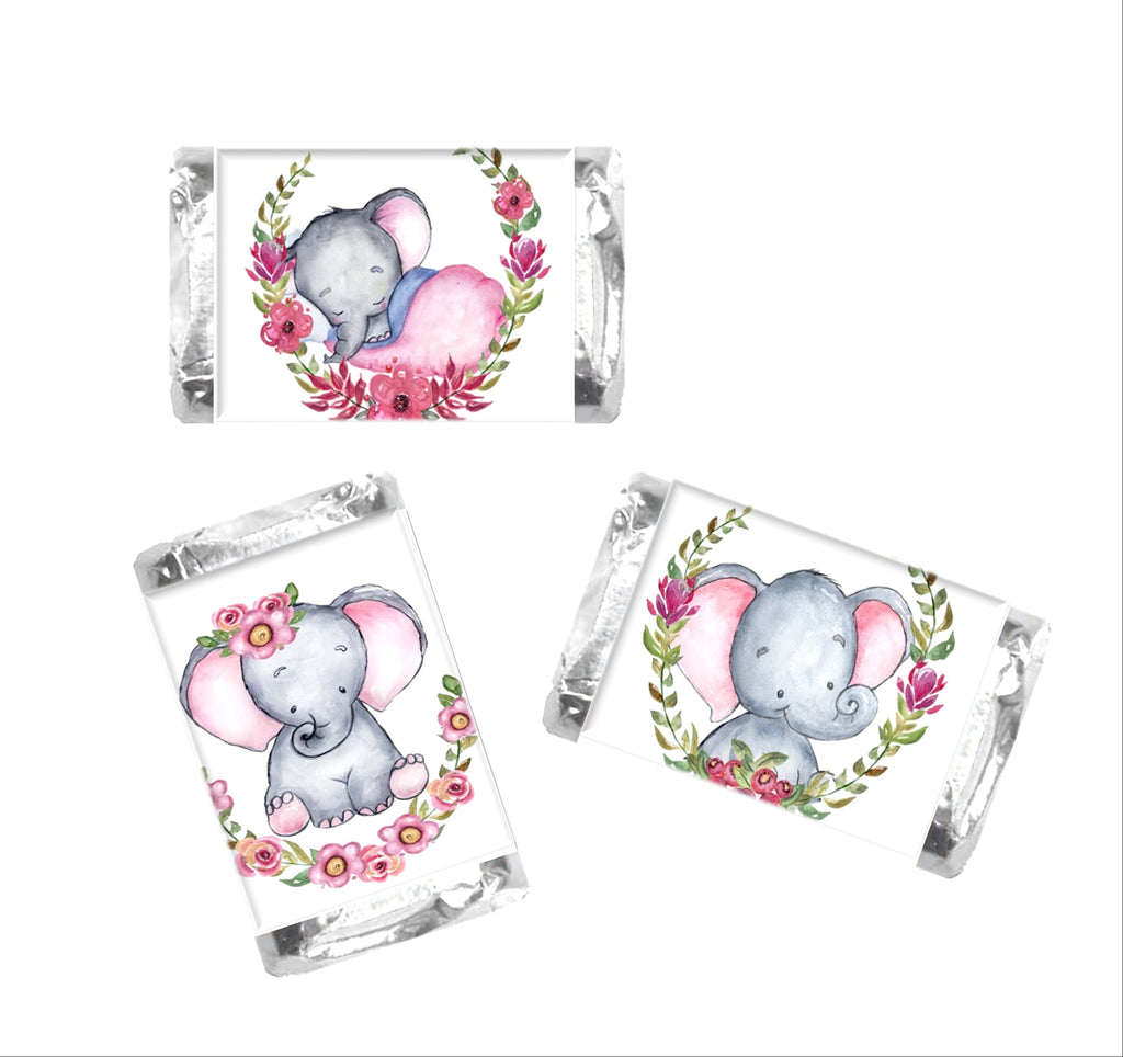 Elephant Mini Candy Wrappers - Cathy's Creations - www.candywrappershop.com