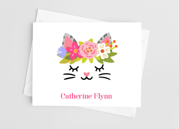 Cat Face Note Cards - Cathy's Creations - www.candywrappershop.com