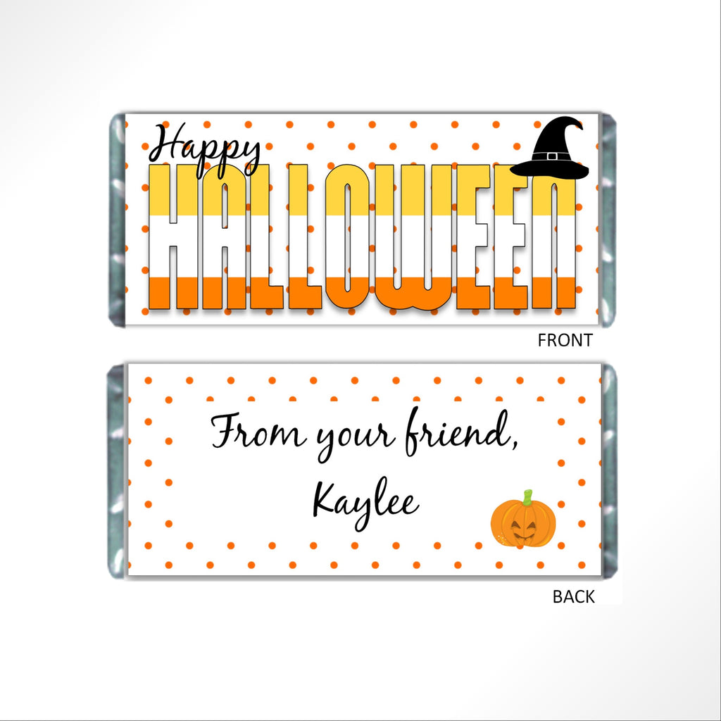 Happy Halloween Candy Bar Wrapper - Cathy's Creations - www.candywrappershop.com