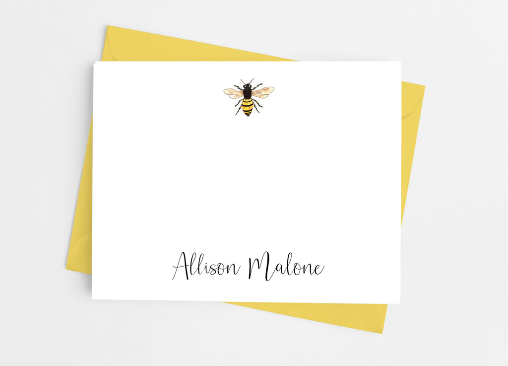 Bee Flat Note Cards - Cathy's Creations - www.candywrappershop.com