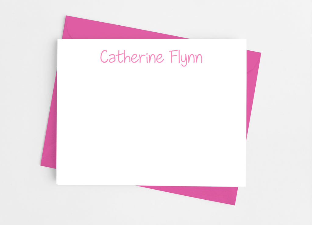 Personalized Stationery Flat Note Cards - Juvenile Type - Cathy's Creations - www.candywrappershop.com